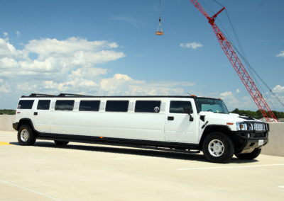 side view hummer limo rental