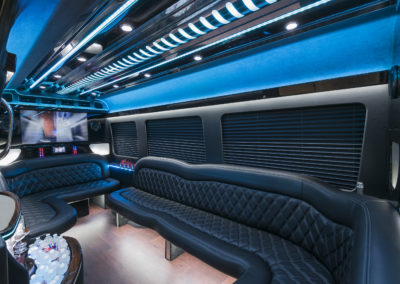 Roomy interior party bus rental