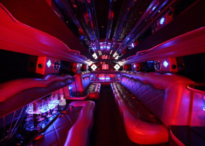 Hummer limo interior red lighting