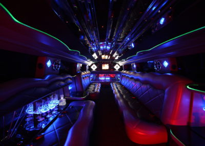 Interior hummer limo multi light dance party