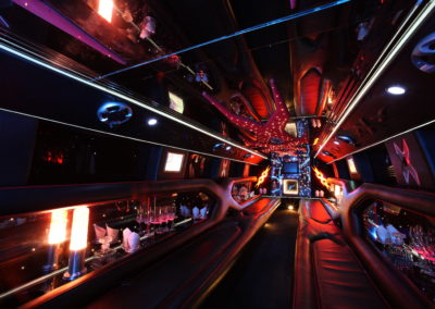 Inside Hummer dance party