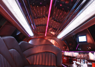 More party bus interior