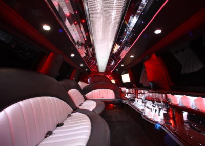 Interior Party Bus Rental DC