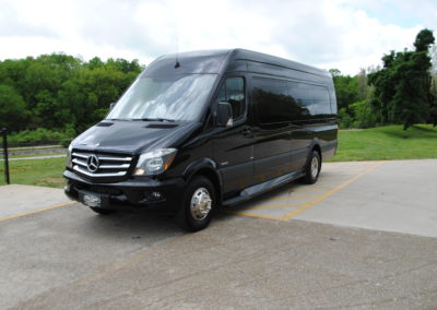 Front View Luxury Sprinter Van car service