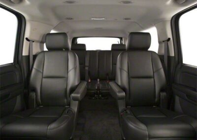 Leather interior of SUV service