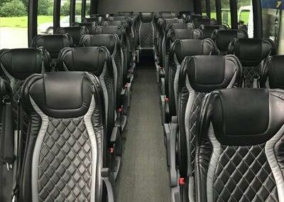 Executive Tour Bus Leather Seats